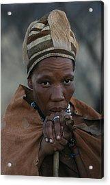 Bushmen Woman Acrylic Print by Miranda  Miranda