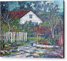 Bushy Old House Acrylic Print by Lily Hymen