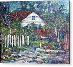 Bushy Old House Acrylic Print by Lily Hymen