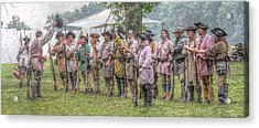 Bushy Run Milita Camp Roll Call Acrylic Print by Randy Steele