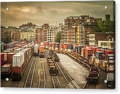 Acrylic Print featuring the photograph Busines End Of The City... by Russell Styles
