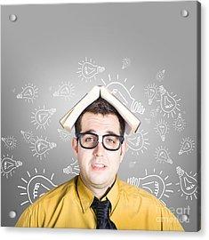 Businessman With New Education Idea Acrylic Print by Jorgo Photography - Wall Art Gallery