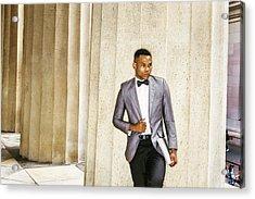 Black Businessman Acrylic Print