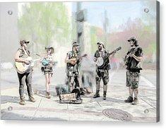 Busker Quintet Acrylic Print