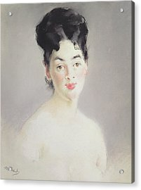 Bust Of A Young Female Nude Acrylic Print by Edouard Manet