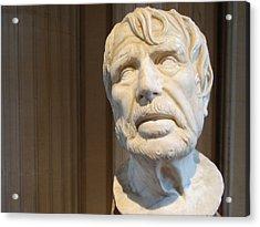 Bust Of An Old Man Acrylic Print by Edan Chapman