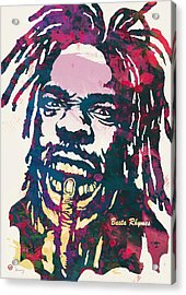 Busta Rhymes Pop Art Poster Acrylic Print