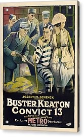 Buster Keaton In Convict 13 1920 Acrylic Print by Mountain Dreams