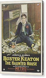 Buster Keaton In The Haunted House 1921 Acrylic Print