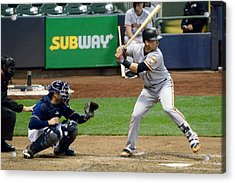 Buster Posey At The Plate Acrylic Print