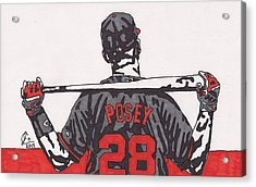 Buster Posey Acrylic Print by Jeremiah Colley