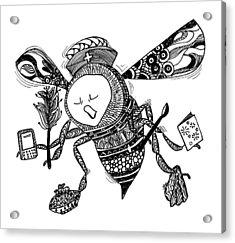 Busy Bee Acrylic Print by Jan Steinle