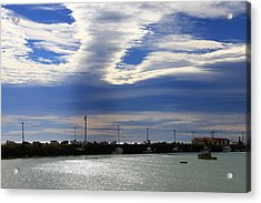 Acrylic Print featuring the photograph Busy Day At The Wharf by Nareeta Martin