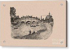Busy Richmond Bridge And Fishermen Acrylic Print