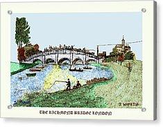 Busy Richmond Bridge Acrylic Print