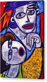 Butah Dancers Acrylic Print by Angelina Marino