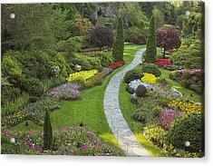 Butchart Gardens Acrylic Print by Eunice Gibb