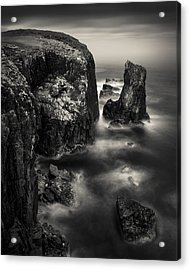 Butt Of Lewis Cliffs Acrylic Print by Dave Bowman