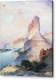Butte Green River Wyoming Acrylic Print by Thomas Moran
