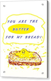 Acrylic Print featuring the drawing Butter For My Bread by Denise Fulmer
