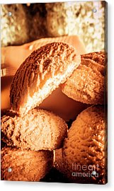 Butter Shortbread Biscuits Acrylic Print by Jorgo Photography - Wall Art Gallery