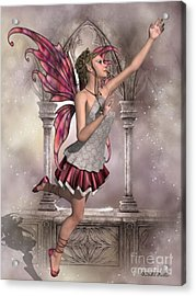 Buttercup Fairy Acrylic Print by Corey Ford