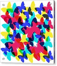 Acrylic Print featuring the digital art Butterflies by Bee-Bee Deigner