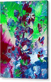 Butterflies, Fairies And Flowers Acrylic Print