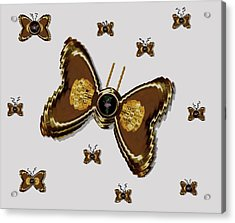 Butterflies For The Worlds  Future Acrylic Print by Pepita Selles