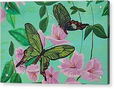Butterflies In Flight Acrylic Print by Martha Mullins