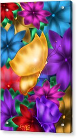 Butterflies In Paradise Acrylic Print by Karla White