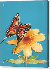 Acrylic Print featuring the painting Butterflower by Denise Fulmer