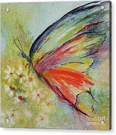 Acrylic Print featuring the painting Butterfly 3 by Karen Fleschler