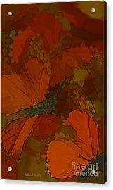 Butterfly Abstract Acrylic Print by Deborah Benoit