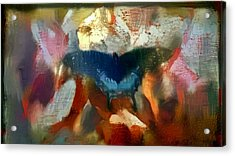 Butterfly Alla Prima Loose Sketch Painting Flowers In The Morning Acrylic Print by MendyZ