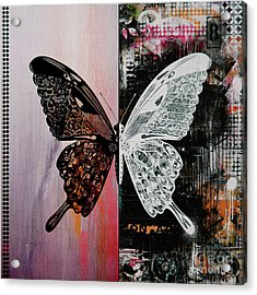 Butterfly Art 45h Acrylic Print by Gull G