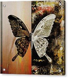 Butterfly Art 78y Acrylic Print by Gull G