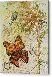 Butterfly Art Journal Acrylic Print by Michele Hollister - for Nancy Asbell