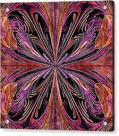 Butterfly Art Nouveau Acrylic Print