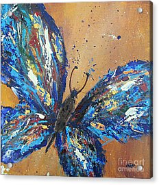 Butterfly Blue Acrylic Print