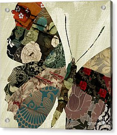 Butterfly Brocade IIi Acrylic Print by Mindy Sommers