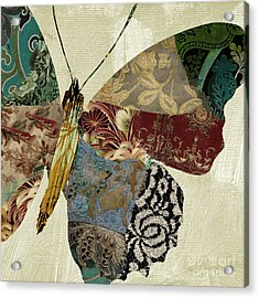 Butterfly Brocade Iv Acrylic Print by Mindy Sommers