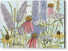 Butterfly Bush In Garden Acrylic Print