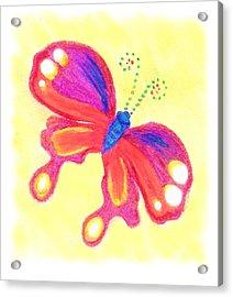 Butterfly Acrylic Print by Chandelle Hazen