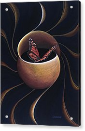 Butterfly Crossing Through The Portal Acrylic Print