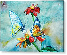 Butterfly Dance Acrylic Print by Jasna Dragun