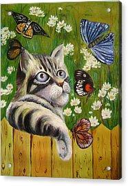 Butterfly Dream Acrylic Print by Lian Zhen