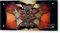 Butterfly Effect 2 / Vintage Tones  Acrylic Print by Elizabeth McTaggart