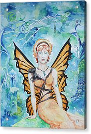 Butterfly Fairy Acrylic Print by Jennifer Bonset