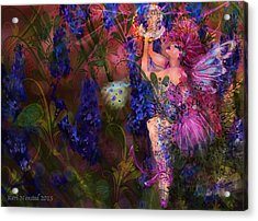 Acrylic Print featuring the digital art Butterfly Fairy by Kari Nanstad